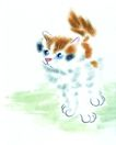 猫专辑0018,猫专辑,中国国画,黄猫 花猫 小猫 可爱 温顺