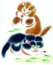 猫专辑0028,猫专辑,中国国画,