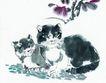 猫专辑0043,猫专辑,中国国画,