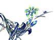 百态昆虫0031,百态昆虫,中国国画,昆虫 害虫 树叶