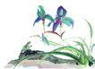 百态昆虫0038,百态昆虫,中国国画,绿叶 生物 自然