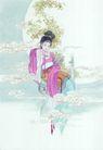 窈窕淑女0001,窈窕淑女,中国国画,美女 形象 嫦娥 嫦娥奔月 仙女