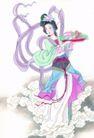 窈窕淑女0002,窈窕淑女,中国国画,舞蹈 优雅 古典 古典美女 舞姿