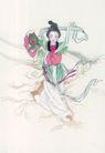 窈窕淑女0011,窈窕淑女,中国国画,神话 播撒 竹篓 神仙 播种