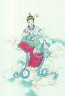 窈窕淑女0012,窈窕淑女,中国国画,飘带 装扮 舞女 赤脚 飘逸