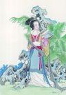 窈窕淑女0017,窈窕淑女,中国国画,古装 装束 神态