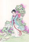 窈窕淑女0018,窈窕淑女,中国国画,飘带 表情 宫女