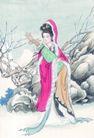 窈窕淑女0024,窈窕淑女,中国国画,琵琶 弹唱 淑女