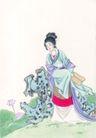 窈窕淑女0029,窈窕淑女,中国国画,