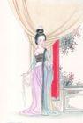 窈窕淑女0031,窈窕淑女,中国国画,小姐 窗帘 衣饰