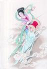 窈窕淑女0032,窈窕淑女,中国国画,淑女 妖娆 云彩