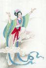 窈窕淑女0034,窈窕淑女,中国国画,仙女 祥云 身姿