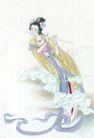 窈窕淑女0035,窈窕淑女,中国国画,乐器 笛子 古代美女