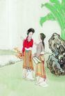窈窕淑女0042,窈窕淑女,中国国画,