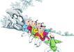 童心童戏0002,童心童戏,中国国画,玩耍 游戏 童年