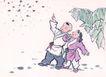 童心童戏0013,童心童戏,中国国画,星星 兄妹 手势