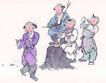 童心童戏0022,童心童戏,中国国画,男孩 童趣 童心