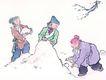 童心童戏0023,童心童戏,中国国画,假山 石头 玩耍