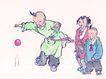童心童戏0024,童心童戏,中国国画,皮球 孩童 游戏