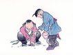 童心童戏0025,童心童戏,中国国画,孩子 蚂蚁 捉虫