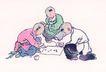 童心童戏0026,童心童戏,中国国画,下棋 儿童 伙伴