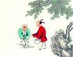 童心童戏0038,童心童戏,中国国画,童年 童真 植物