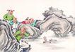 童心童戏0043,童心童戏,中国国画,