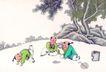 童心童戏0045,童心童戏,中国国画,