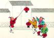 童心童戏0054,童心童戏,中国国画,新年到 红灯笼 挂灯笼