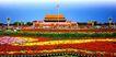 北京名胜0096,北京名胜,中国民间艺术,天安门 广场 鲜花
