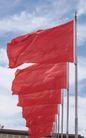 古代建筑0073,古代建筑,中国民间艺术,红旗 飘扬 迎风