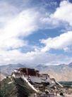 古代建筑0074,古代建筑,中国民间艺术,拉萨 布达拉宫 雄伟