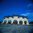 古代建筑0090,古代建筑,中国民间艺术,蓝天 桥门 人群