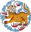 吉祥动物0057,吉祥动物,中国民间艺术,猛兽图片 猛虎 火焰