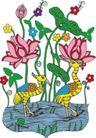吉祥动物0083,吉祥动物,中国民间艺术,祝福 节日 花束