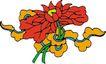 吉祥动物0092,吉祥动物,中国民间艺术,花朵 花瓣 枝叶