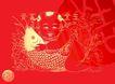 002,吉祥生肖,中国民间艺术,鲤鱼 年画 年年有余 富贵 怀抱