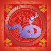 015,吉祥生肖,中国民间艺术,蛇 吐舌 原乡