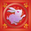 017,吉祥生肖,中国民间艺术,兔子 生肖 边框