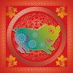 019,吉祥生肖,中国民间艺术,猪 肥胖 过年