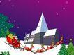 圣诞新年0035,圣诞新年,中国民间艺术,冬天 老人 夜晚