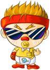 彩绘0096,彩绘,中国民间艺术,漫画 孩子 服饰