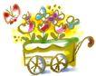 彩绘0123,彩绘,中国民间艺术,彩墨 上色 水彩 鲜花 花车