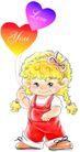 恭贺节庆0026,恭贺节庆,中国民间艺术,小可爱 小女孩 心形