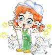 恭贺节庆0035,恭贺节庆,中国民间艺术,动物 卡通 男孩