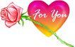 恭贺节庆0056,恭贺节庆,中国民间艺术,一支玫瑰 粉色玫瑰 一颗红心