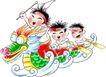 恭贺节庆0071,恭贺节庆,中国民间艺术,龙舟 儿童 竞赛
