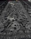 故宫0079,故宫,中国民间艺术,斜坡 龙纹 石板