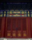 故宫0080,故宫,中国民间艺术,门楣 黄色 彩纹