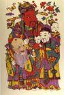 民间艺术0009,民间艺术,中国民间艺术,财神 聚首 笑谈